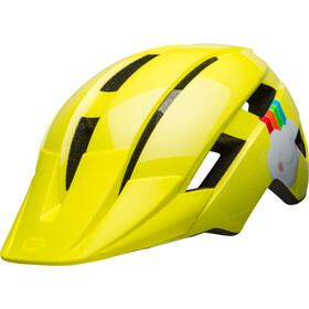 Bell Sidetrack II Casco Bambini, yellow rainbow